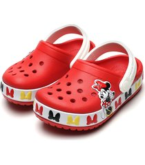 babuche crocs infantil minnie mouse vermelha