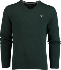 gant pullover lamswol groen rf 86212/374