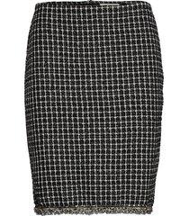 caney skirt kort kjol svart cream