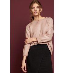 sweter powder pink