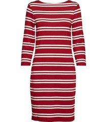 d1. striped dress knälång klänning röd gant