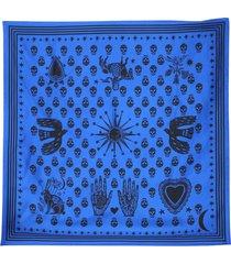 alexander mcqueen silk twill scarf