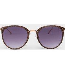 karley thin leopard frame sunglasses - leopard