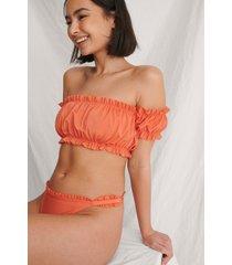 curated styles veckad off-shoulder-bikinitopp - orange