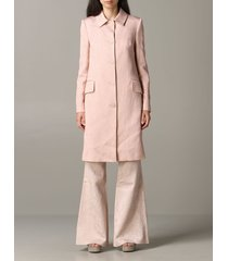 blumarine coat blumarine brocade coat with rose print