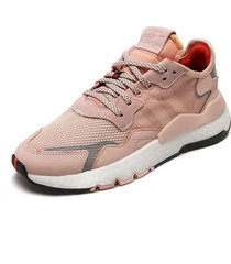 tenis lifestyle rosa-blanco adidas originals nite jogger w