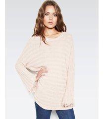 palmer fringe sweater - m champagne