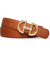steve madden women's horse-bit buckle belt