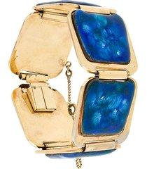 rewind vintage affairs 1970's embellished bracelet - metallic