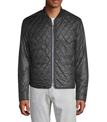 o-reversible quilted bomber jacket