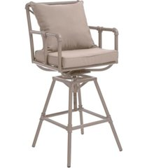 noble house hatteras outdoor adjustable height swivel barstool