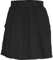 linen short flared skirt kort kjol svart cathrine hammel