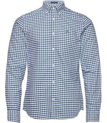 the oxford 2 col gingham slim bd overhemd casual groen gant