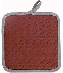 apoio brinox para panelas/luva glac㪠chocolate - marrom - dafiti