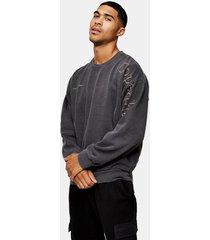 mens copenhagen sweatshirt in washed black