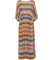 mes demoiselles drawstring waist stripe patterned dress