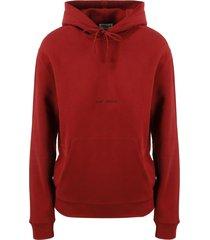 saint laurent logo print tye-dye hoodie
