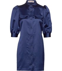 tacca korte jurk blauw custommade