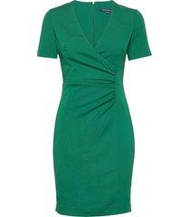 esmei stretch s/slv bodycn ds kort klänning grön french connection