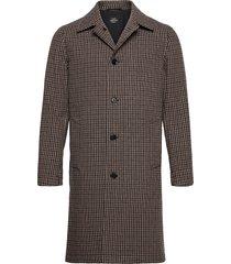 check wool carlo wollen jas lange jas multi/patroon mads nørgaard