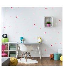 adesivo de parede infantil estrelas rosa