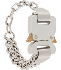 1017 alyx 9sm buckle detail bracelet - silver