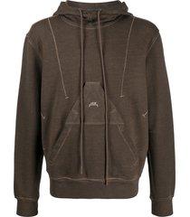 a-cold-wall* x diesel red tag logo hoodie - brown