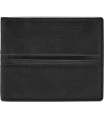 fossil men's roger embossed leather wallet