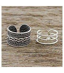 sterling silver ear cuffs, 'ties that bind' (thailand)