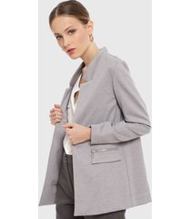 blazer ash liso gris - calce regular