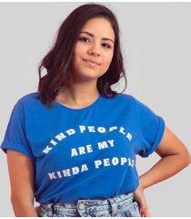 blusa in love t-shirt kind azul - kanui