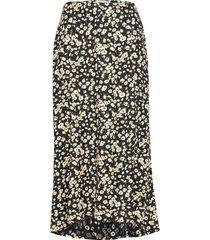 high slit midi skirt knälång kjol multi/mönstrad abercrombie & fitch