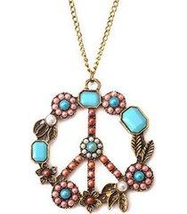 collana lunga ciondolo vintage collana cava fiore rotondo catena di gioielli etnici per le donne