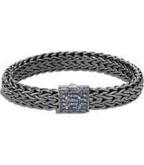 'classic chain' sapphire silver rhodium bracelet