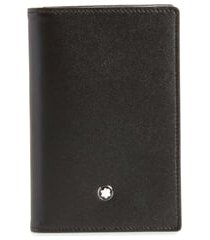 men's montblanc meisterstuck leather card case - black