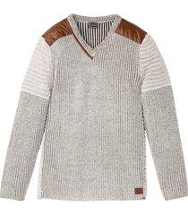 maglione con scollo a v (beige) - rainbow