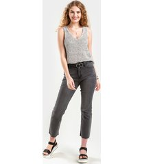 women's danielle mid rise cropped jeans in denim by francesca's - size: 30