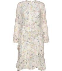 helia dress knälång klänning creme by malina