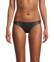 mikoh swimwear women's queens minimal bikini bottom - black - size m