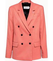calvin klein giacca notch doppiopetto rosa