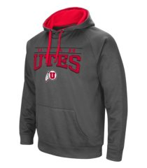 colosseum utah utes men's poly performance hooded sweatshirt