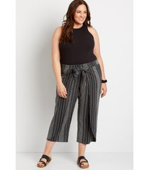 maurices plus size womens striped flyaway pants