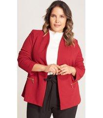 chaqueta bolsillos cremallera rojo 22