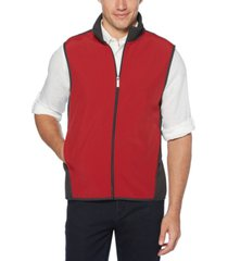 perry ellis men's colorblocked full-zip fleece vest