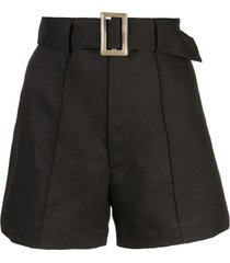 lisa marie fernandez high-rise belted shorts - black
