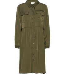 dhbologna dress jurk knielengte groen denim hunter