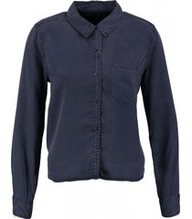 tommy hilfiger soepele blauwe lyocell blouse