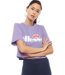 polera ellesse crop t-shirt alberta lila - calce holgado