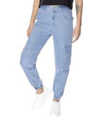 jeans jogger cargo azul cargo corona