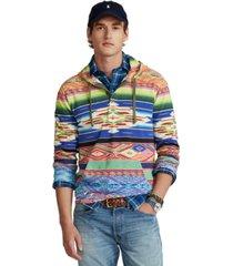 polo ralph lauren men's serape-print mesh hoodie